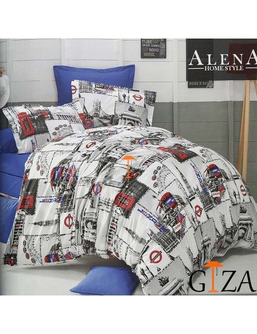 Постельное белье London Alena Home ЕВРО 2-x сп.