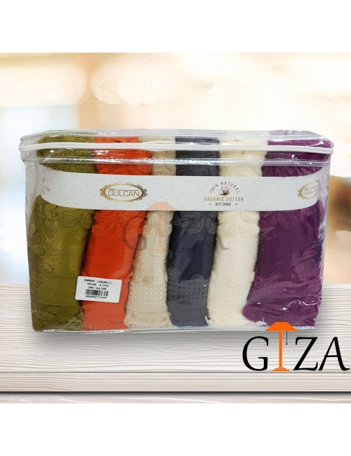 Полотенца DNZ GULCAN cotton в упаковке 6 шт 70x140 см